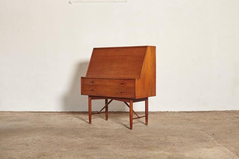 Mid-Century Modern Very Rare Ib Kofod Larsen Secretary Desk / Bureau, PA Pedersen, 1954, Denmark For Sale