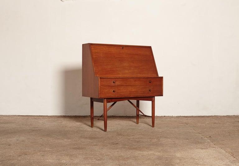 Very Rare Ib Kofod Larsen Secretary Desk / Bureau, PA Pedersen, 1954, Denmark In Good Condition For Sale In London, GB