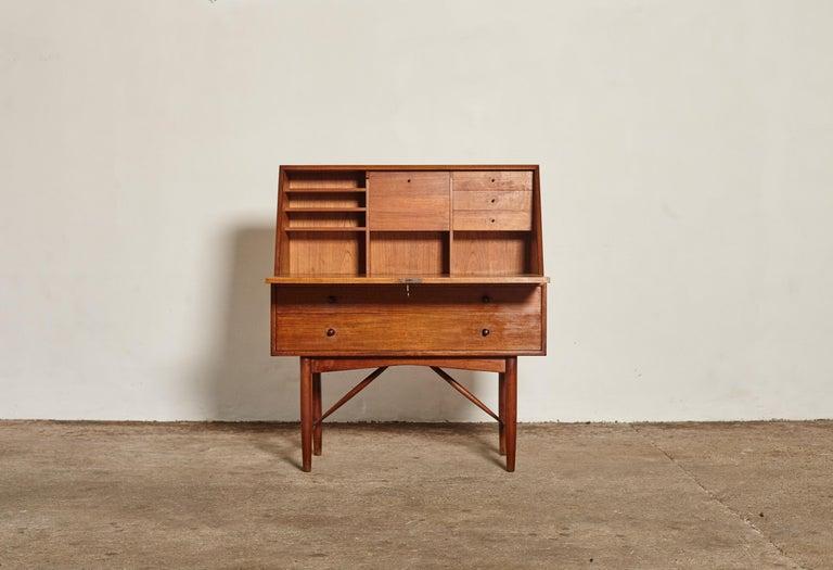 20th Century Very Rare Ib Kofod Larsen Secretary Desk / Bureau, PA Pedersen, 1954, Denmark For Sale