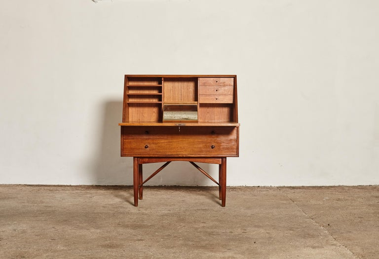 Teak Very Rare Ib Kofod Larsen Secretary Desk / Bureau, PA Pedersen, 1954, Denmark For Sale