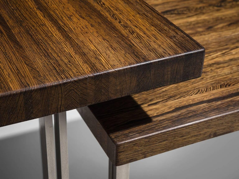 Very Rare Jules Wabbes Executive Corner Desk in Wenge In Good Condition For Sale In Waalwijk, NL