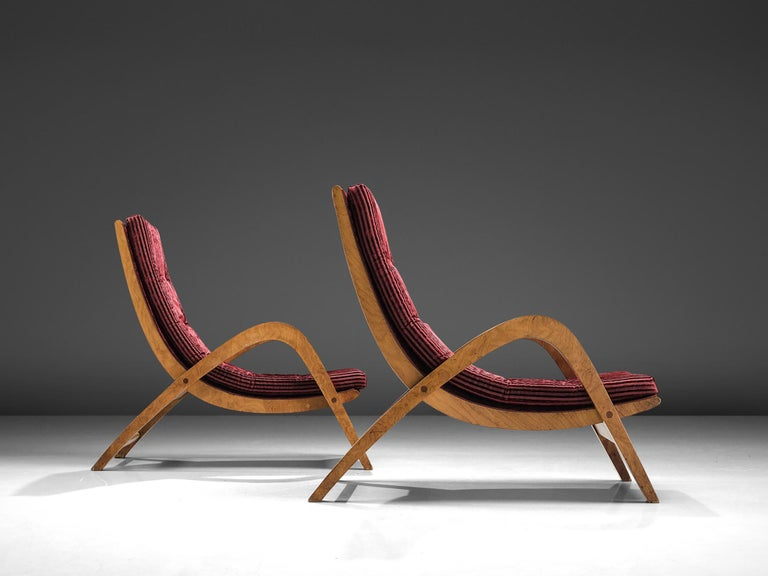 Mid-Century Modern Very Rare Large Lounge Chairs by Neil Morris For Sale