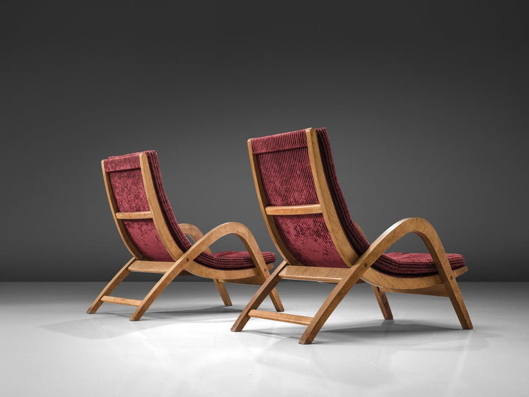 Scottish Very Rare Large Lounge Chairs by Neil Morris For Sale