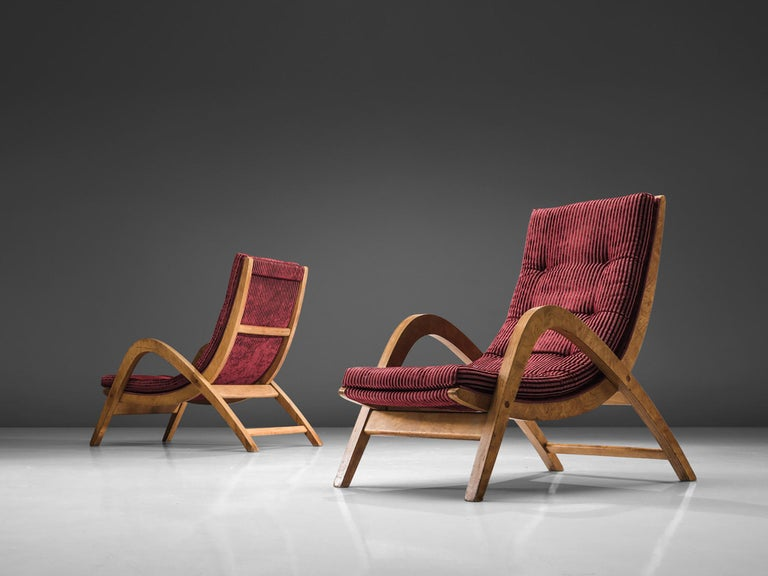 Very Rare Large Lounge Chairs by Neil Morris In Good Condition For Sale In Waalwijk, NL