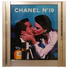 Very Rare Large Retail Advertisement Display with Light for Chanel No. 19
