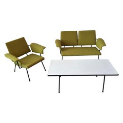 Very Rare Living Room Set by Rudolf Wolf for Elsrijk, 1950's