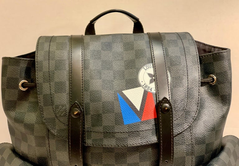 Very Rare Louis Vuitton Special Edition Christopher PM Damier Graphite Backpack  For Sale 5