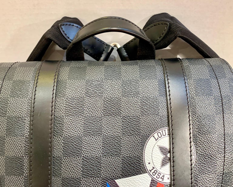 Very Rare Louis Vuitton Special Edition Christopher PM Damier Graphite Backpack  For Sale 6