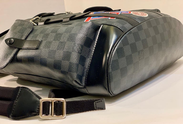 Very Rare Louis Vuitton Special Edition Christopher PM Damier Graphite Backpack  For Sale 8