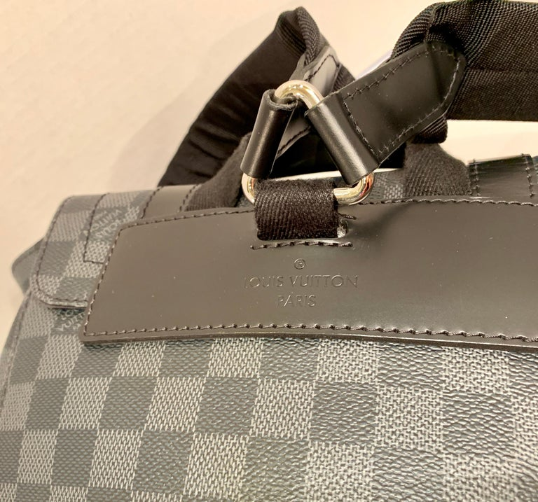 Very Rare Louis Vuitton Special Edition Christopher PM Damier Graphite Backpack  For Sale 9