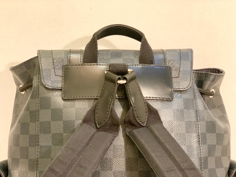 Very Rare Louis Vuitton Special Edition Christopher PM Damier Graphite Backpack  For Sale 10