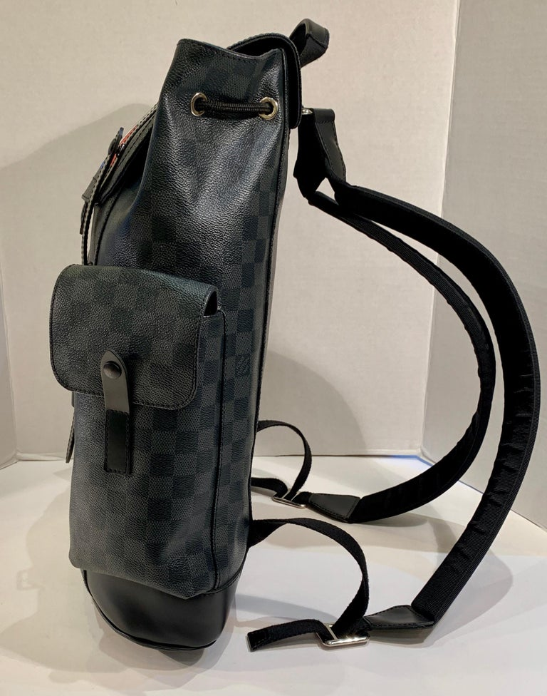 Very Rare Louis Vuitton Special Edition Christopher PM Damier Graphite Backpack  In Good Condition For Sale In Tustin, CA