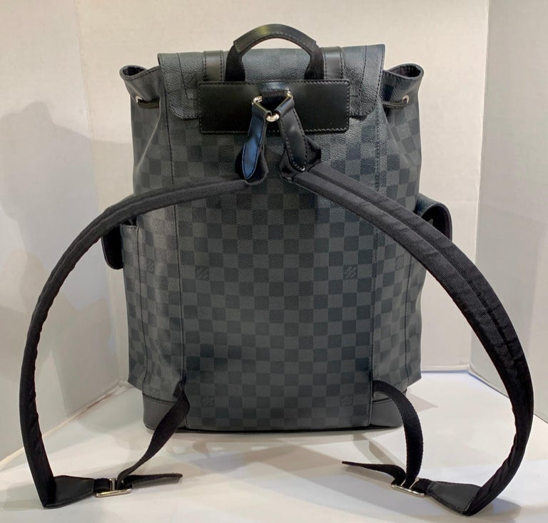Very Rare Louis Vuitton Special Edition Christopher PM Damier Graphite Backpack  For Sale 1