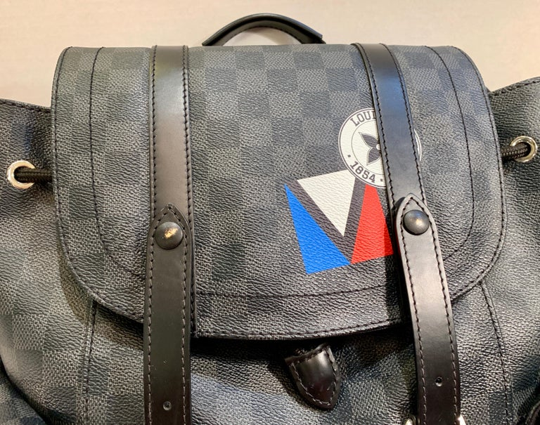 Very Rare Louis Vuitton Special Edition Christopher PM Damier Graphite Backpack  For Sale 4