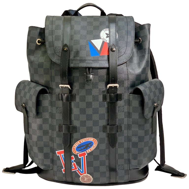 Very Rare Louis Vuitton Special Edition Christopher PM Damier Graphite Backpack  For Sale