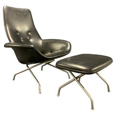 Very Rare Lounge Chair and Ultra Rare Stool