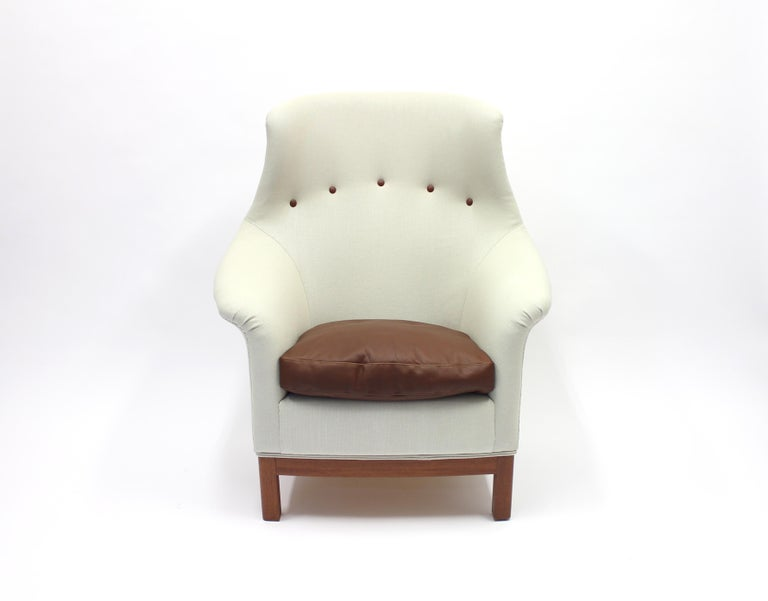 Scandinavian Modern Very Rare Lounge Chair by Kerstin Hörlin-Holmquist for Nordiska Kompaniet, 1960s For Sale