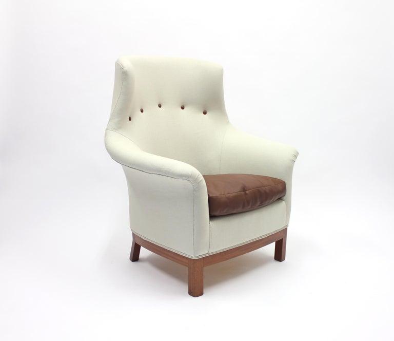 European Very Rare Lounge Chair by Kerstin Hörlin-Holmquist for Nordiska Kompaniet, 1960s For Sale