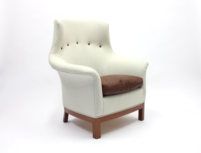 Very Rare Lounge Chair by Kerstin Hörlin-Holmquist for Nordiska Kompaniet, 1960s In Good Condition For Sale In Uppsala, SE