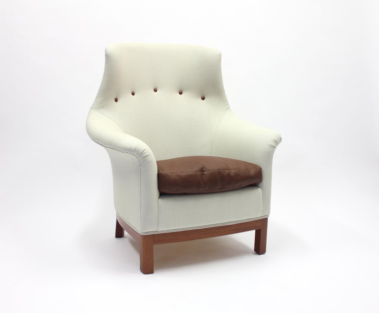 Mid-20th Century Very Rare Lounge Chair by Kerstin Hörlin-Holmquist for Nordiska Kompaniet, 1960s For Sale