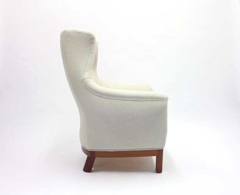 Leather Very Rare Lounge Chair by Kerstin Hörlin-Holmquist for Nordiska Kompaniet, 1960s For Sale