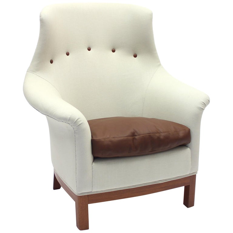 Very Rare Lounge Chair by Kerstin Hörlin-Holmquist for Nordiska Kompaniet, 1960s For Sale