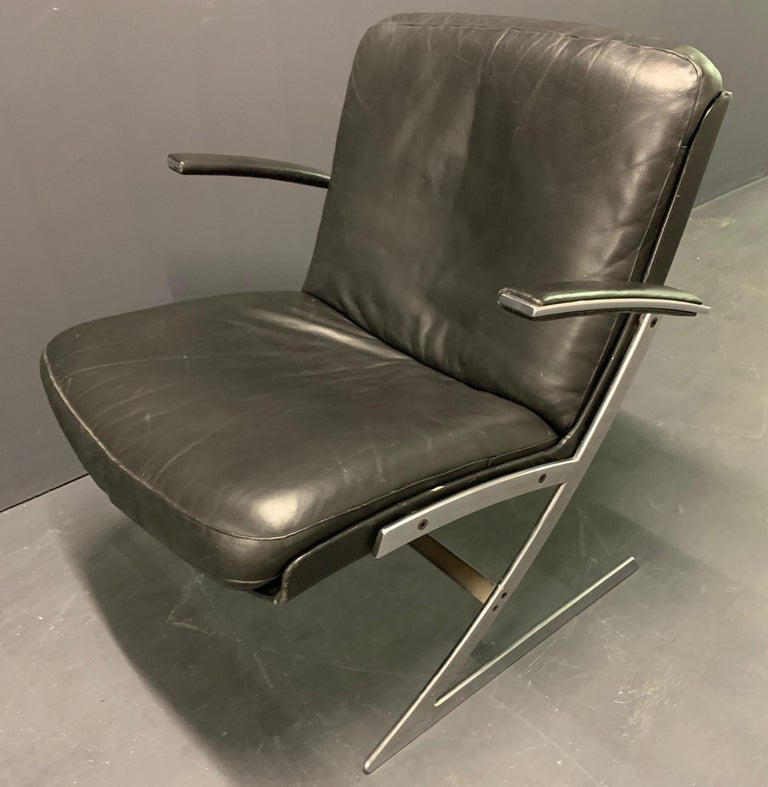 Mid-20th Century Very Rare Lounge Chair by Preben Fabricius For Sale