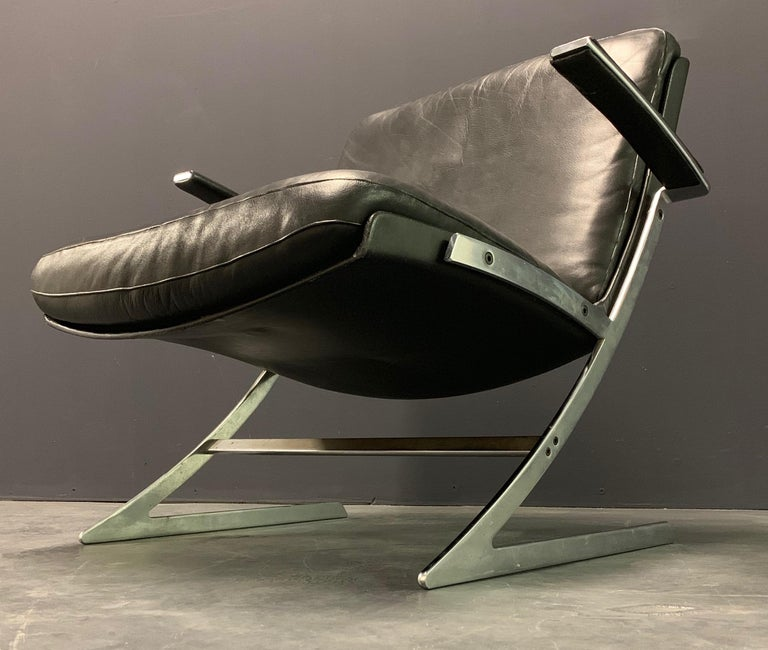 Very Rare Lounge Chair by Preben Fabricius For Sale 2