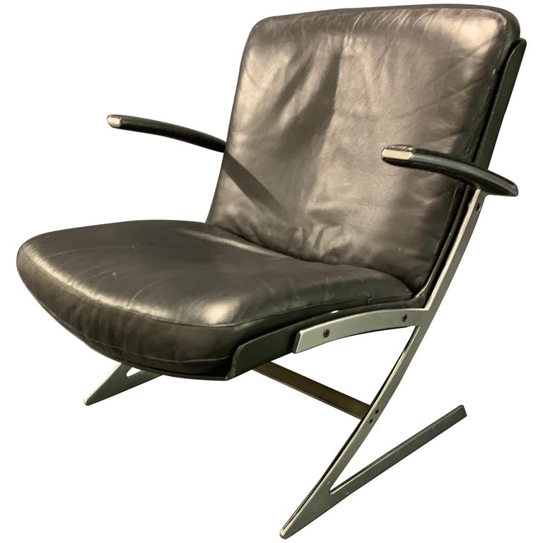 Very Rare Lounge Chair by Preben Fabricius For Sale