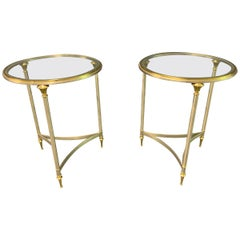 Very Rare Maison Charles Pair of Directoire End or Side Tables