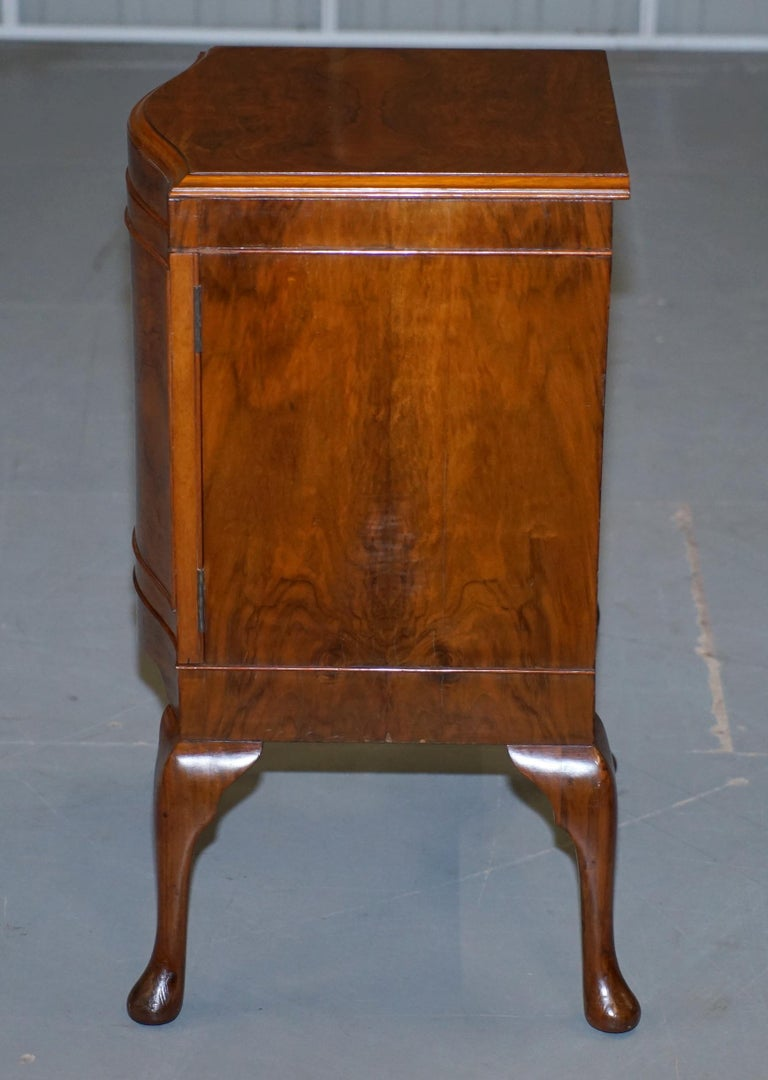 Very Rare Maurice Adams Art Deco Burr Walnut Bedside or Side End Lamp Wine Table For Sale 10