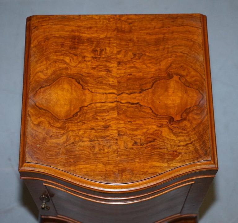 Very Rare Maurice Adams Art Deco Burr Walnut Bedside or Side End Lamp Wine Table In Good Condition For Sale In , Pulborough
