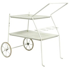 Very Rare Mid-Century Modern Perforated Metal Serving Trolley from Italy