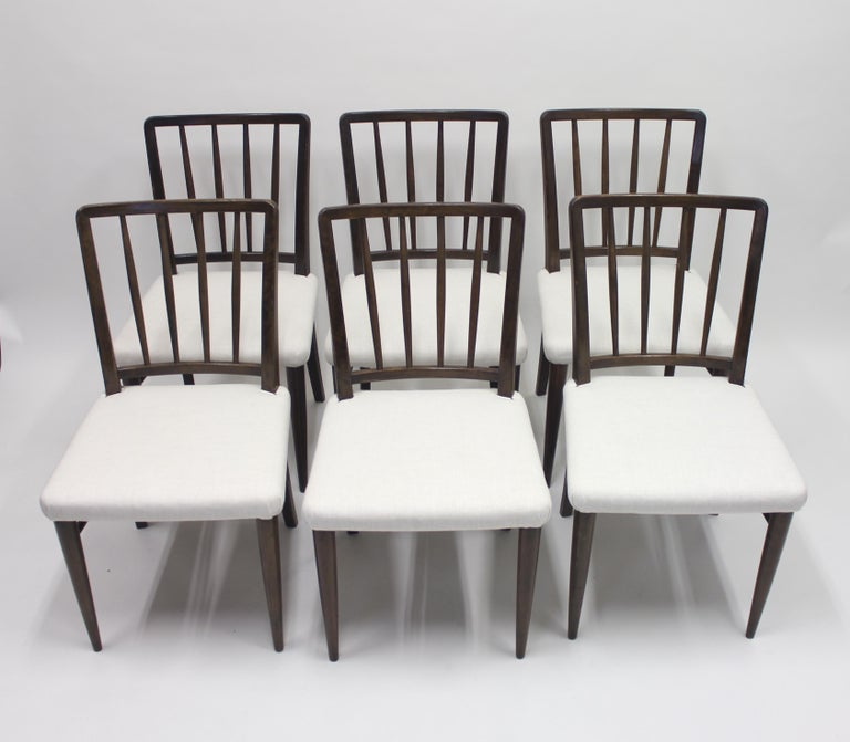 Fabric Very Rare Model O.K. Chairs by Axel Einar Hjorth for Nordiska Kompaniet, 1930s For Sale