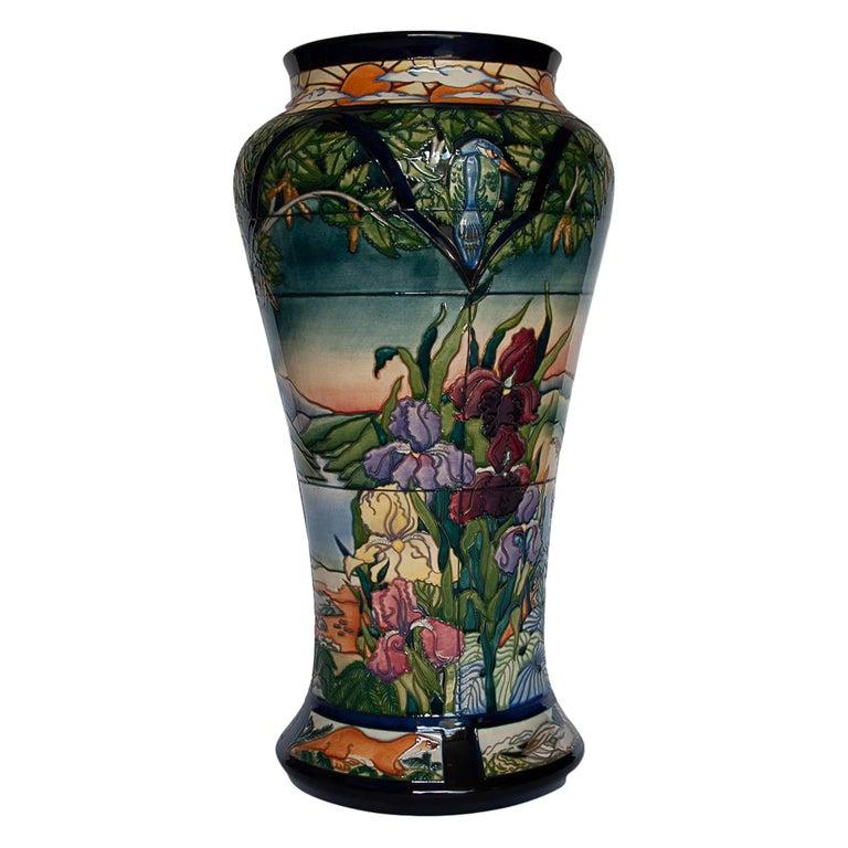 "Very Rare Moorcroft ""Paramore"" Vase by Rachel Bishop, circa 2002 For Sale"