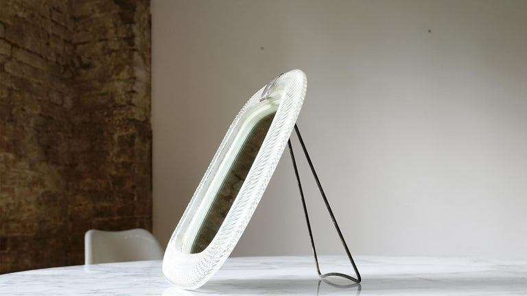 Very Rare Murano Wall Table Mirror Attributed to Venini In Good Condition For Sale In Munster, NRW