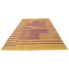 Very Rare Original Midcentury Carpet Designed by Antonin Kybal, 1948