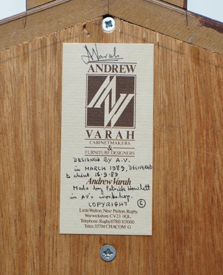 Very Rare Original Signed Dated 1989 Andrew Varah Umbrella Men Rarewood Wardrobe For Sale 12