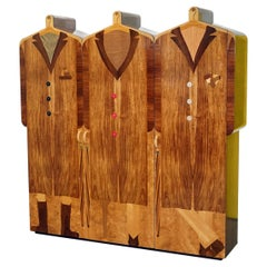 Very Rare Original Signed Dated 1989 Andrew Varah Umbrella Men Rarewood Wardrobe