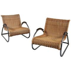 Very Rare Pair of Erich Dieckmann Armchairs