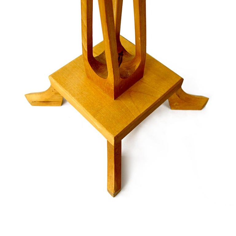 Mid-20th Century Very Rare Pair of High Mid-Century Wooden Candlesticks by Selma Helmer Loberg For Sale