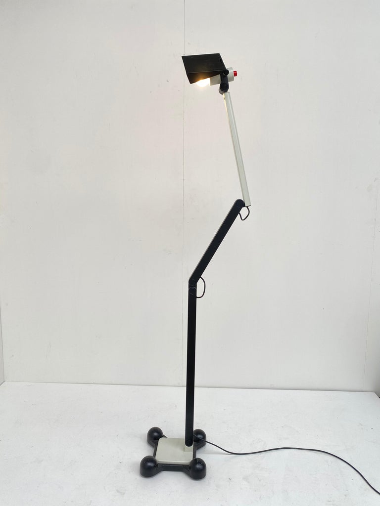 Very Rare Published Ettore Sottsass Jr. Design Floor Lamp for Erco Germany, 1973 For Sale 5