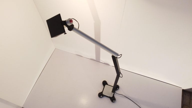 Cast Very Rare Published Ettore Sottsass Jr. Design Floor Lamp for Erco Germany, 1973 For Sale