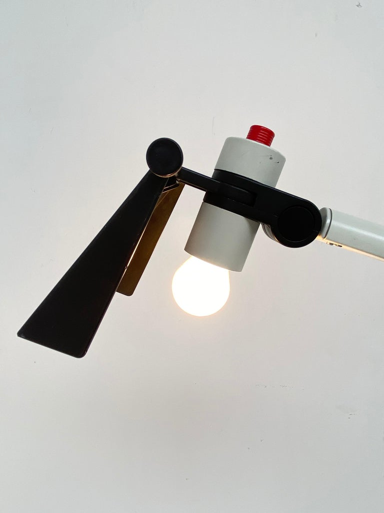 Late 20th Century Very Rare Published Ettore Sottsass Jr. Design Floor Lamp for Erco Germany, 1973 For Sale