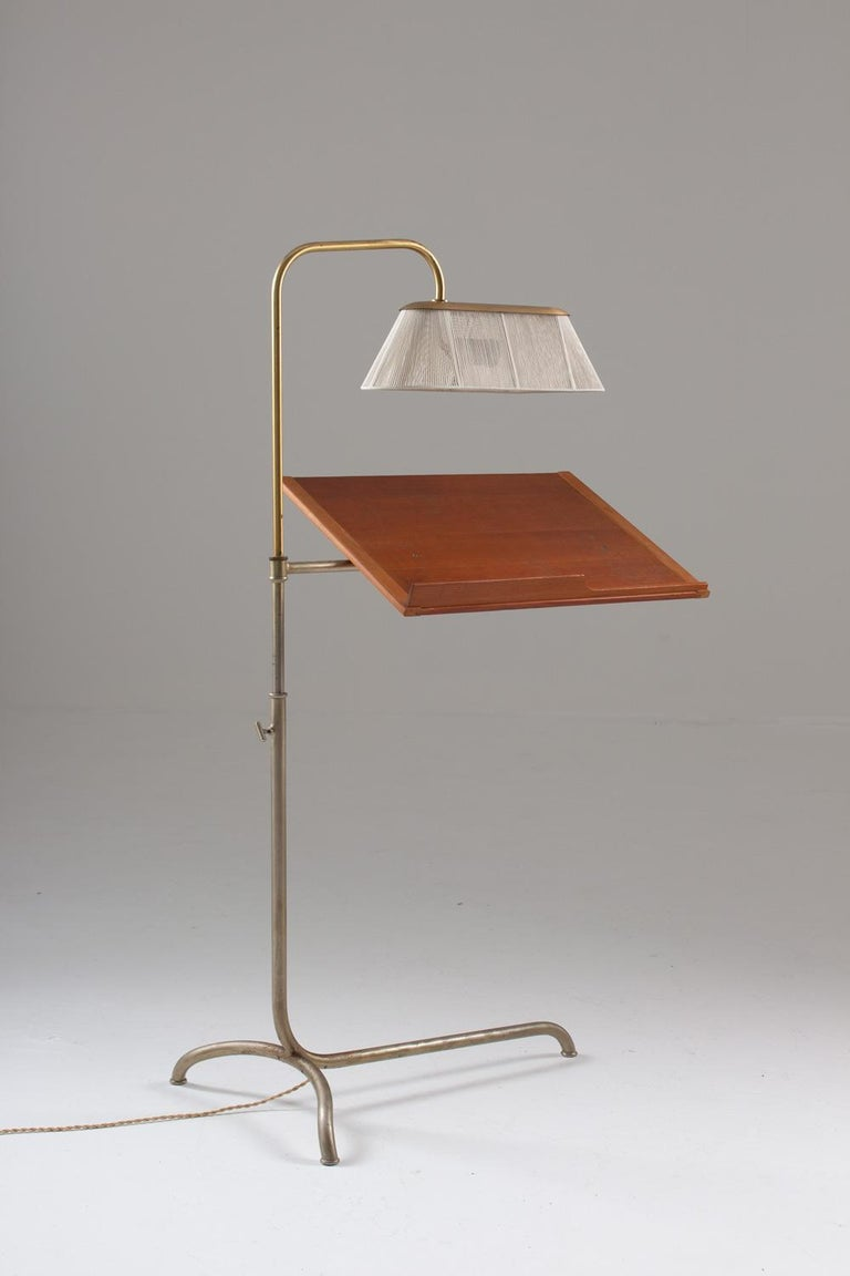 Swedish Very Rare Reading Stand with Light by Bruno Mathsson For Sale