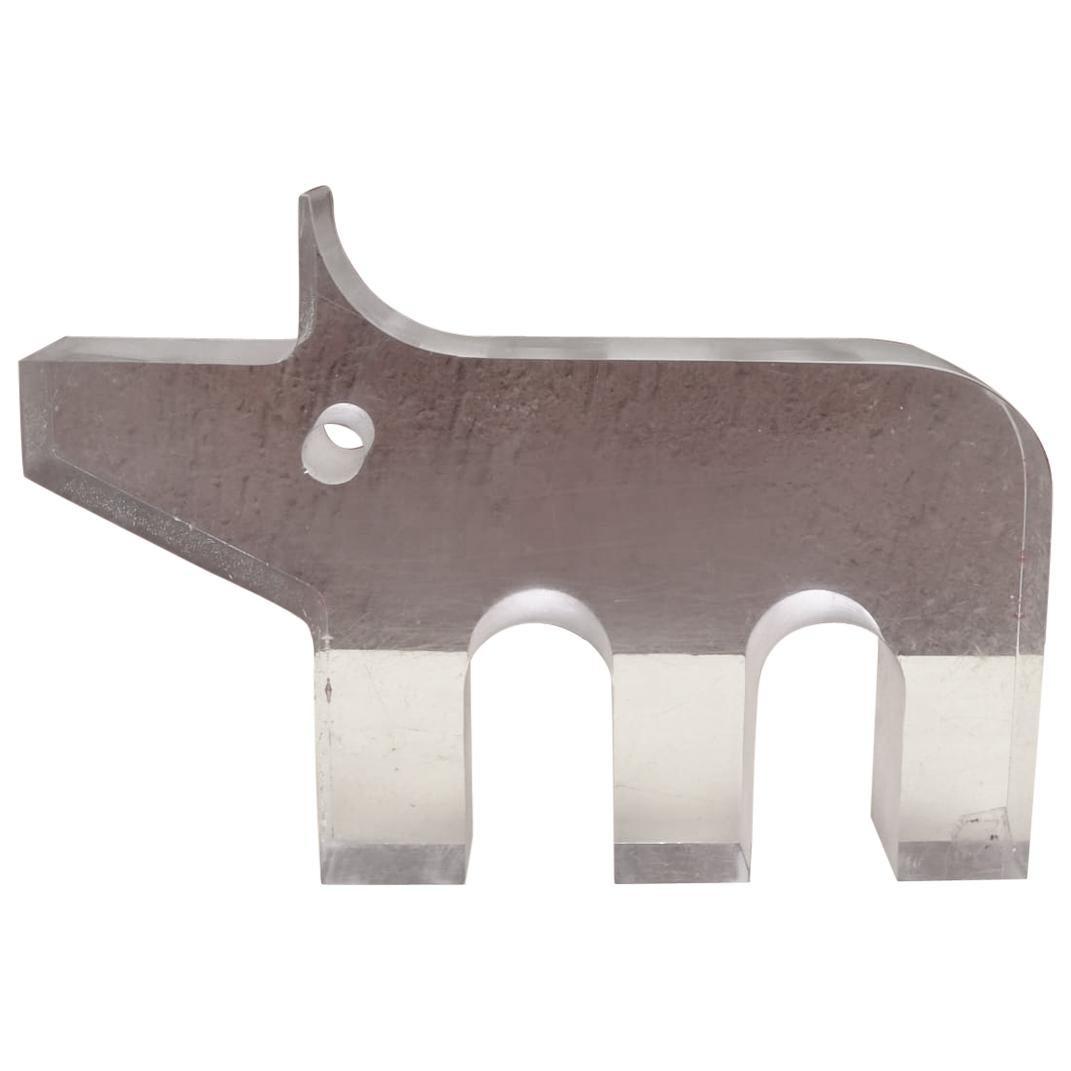Very Rare Rhino 'Lucite', Designed by Silvio Russo for Guzzini, Italy