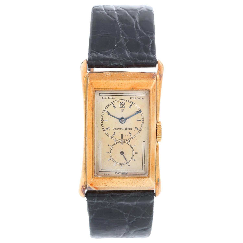 Very Rare Rolex Prince 9K Yellow Gold Men's Watch