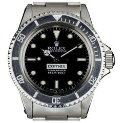 Very Rare Rolex Stainless Steel Comex Submariner Black Dial