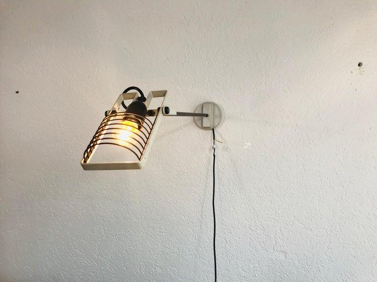 Post-Modern Very Rare Sintesi Wall Lamp by Ernesto Gismondi for Artemide, Italy, 1970s For Sale