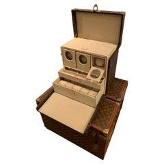 Very Rare Special Order Louis Vuitton Watch Trunk, Watch Case, circa 2000